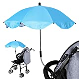 ombrellone Universale carrello da bambino, Ombrello ombrellone Parasole per carrozzina e passeggino con UV protezione 360gradi di direzione regolabile per protegge Il Neonati E Bambini