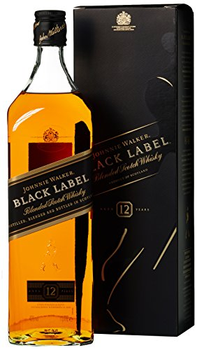 *Johnnie Walker Black Label Blended Scotch Whisky 40% 1,0l Flasche*