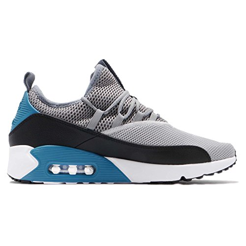 41hwQht0ogL. SS500  - Nike Mens Air Max 90 EZ Running Shoes Wolf Grey/Cool Grey/Black/Laser Blue AO1745-004 Size 10.5