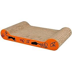 Trixie Arbre à chat sauvage en carton, 41x 24x 7cm, orange