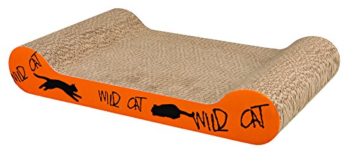 Trixie Wild Cat Scratching Karton, 41 x 24 x 7 cm, orange