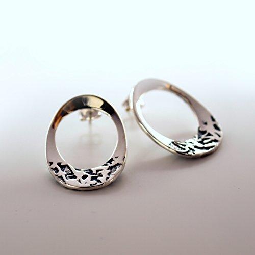 'Uovo' Orecchini ovali in argento 925%
