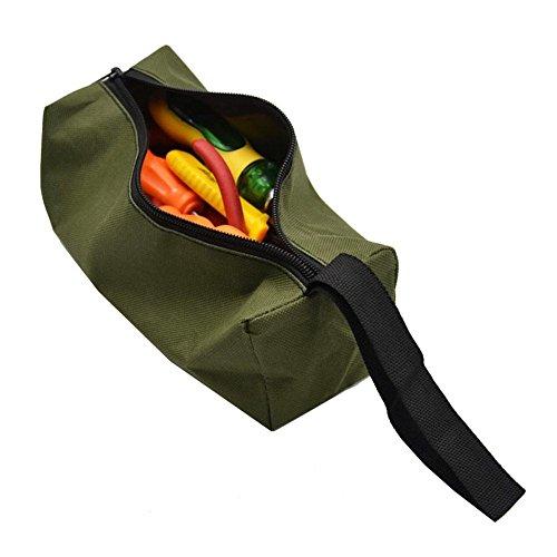 Werkzeugtasche / Werkzeugbeutel (30x10x10cm)Finishing Tasche wasserdicht Werkzeug Handtasche Hardware Kleinteile Aufbewahrungstasche (Grün)