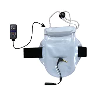 Watertight Workout Bag for Protecting the Sony Walkman NWZ-S639F from Water Dust and Sand