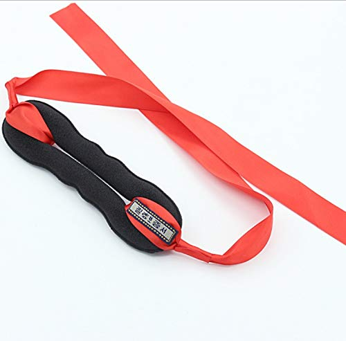 KANEED Hauptbänder Hoops 2 STÜCKE Hair Curls Bun Haarband Hair Maker Silk Ribbon Bowknot Hairband Small Size (Farbe : Red) -