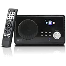 Ocean Digital Internet Radio WR60 WiFi Wlan inalámbrica conexión 2.4' Color pantalla LCD reproductor multimedia de escritorio madera-negro
