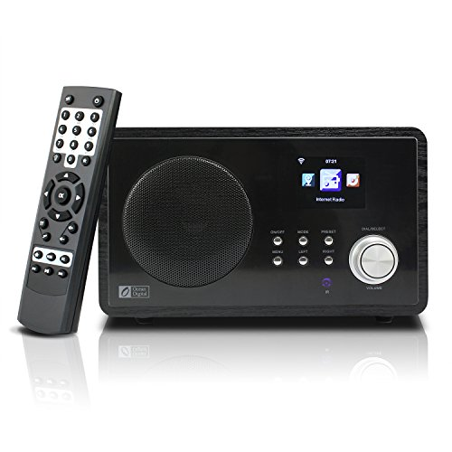 "Ocean Digital Internet Radio WR60 Digital Radio, Wi-Fi, FM,Display da 2.4"",legno, Nero"