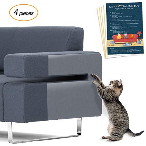 KISSIN Katzen-Kratz-Klebeband, doppelseitiges Klebeband, Kratzschutz für Katzen, Couch- und Möbelschutz von Kratzschutz für Katzen, 43 cm x 12 W -