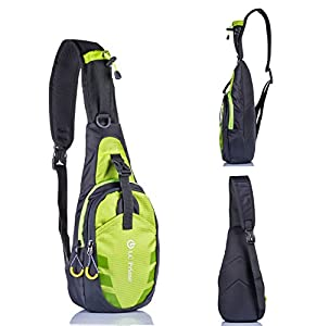LC Prime Sling Bag Chest Shoulder Unbalance Gym Fanny Backpack Sack Satchel Outdoor Bike from LC Prime
