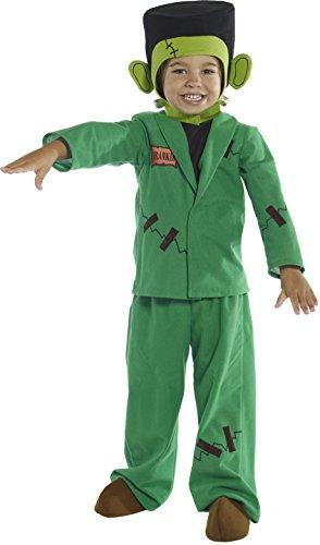 Smiffys, Kinder Jungen Monster Kostüm, Oberteil, Jacke, Hose, Kopfteil und Überschuhe, Größe: T1 (Kleinkind Small), 36168 (Monster Kostüm, Kleinkind, Junge)