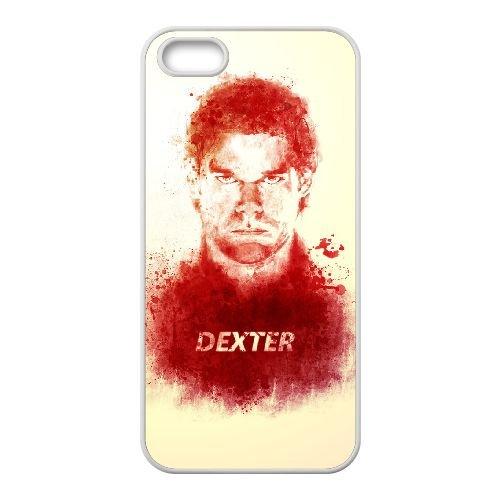 Dexter Blood coque iPhone 4 4S Housse Blanc téléphone portable couverture de cas coque EBDXJKNBO09576
