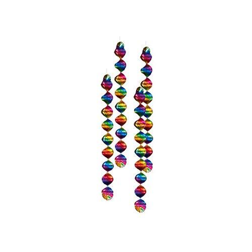 spiralen Regenbogen, 4 STK, 5x60 cm ()