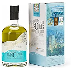 LivesOlives Blue Hojiblanca Aceite de Oliva Virgen Extra Ecológico - Selección - Oro en Olive Japan y Jerusalén - 500Ml