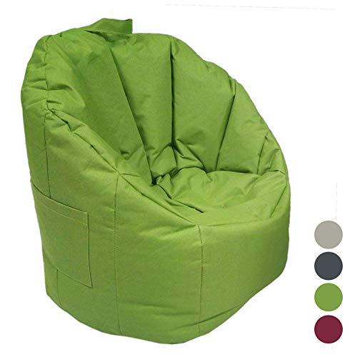 casamia Outdoor Sitzsack Sessel mit Lehne ø 60 H 80 cm, hochwertig und pflegeleicht, 4 Farbe grün-Lime