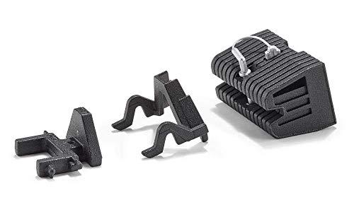 SIKU 3095, Adapter Set mit Frontgewicht, 1:32, Metall, Schwarz, Passend für Front-und Heckkupplung von SIKU Traktoren