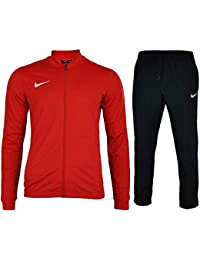 cb13af17820a Nike Mens Academy 16 Knit Dri Fit Red Black Football Warm Up Full Tracksuit
