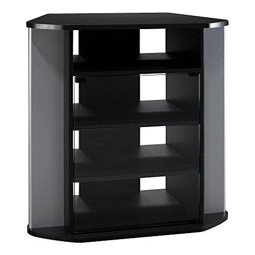 Bush Furniture Visions hoch TV-Eckregal in schwarz und metallic