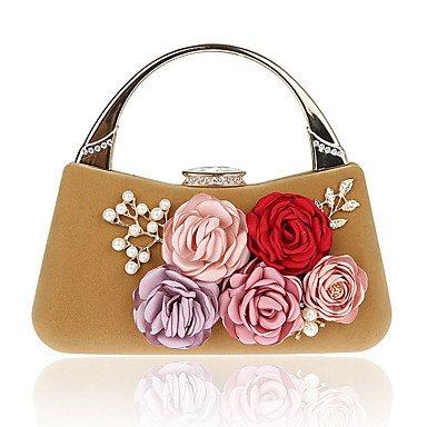 Frauen elegante Hochwertige Luxus Blume Abend Tasche apricot