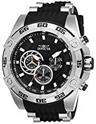 Invicta Speedway Black Polyurethane Band Steel case Quartz Watch 25505