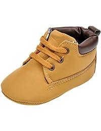 hibote Bebé recién nacido de cuero suave de la zapatilla de deporte del niño de los zapatos de Prewalker
