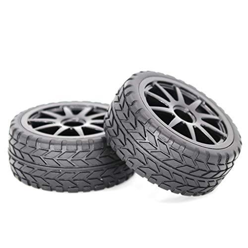 Ruota in gomma per auto, 63 mm, per 1:10 RC Drift sulla strada, per corsa, camion, per uso generale, con telecomando, per tirare