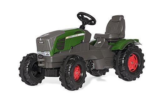 Fendt Trettraktor Rolly Toys 601028 rollyFarmtrac Fendt 211 Vario | Traktor mit Motorhaube zum Öffnen | Trettraktor mit Sitzverstellung und Flüsterreifen | ab 3 Jahren | Farbe grün  | TÜV/GS geprüft