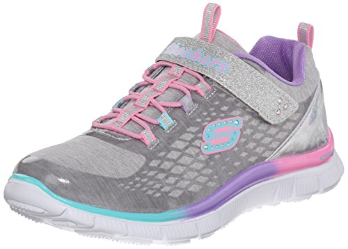 Skechers (SKEES), Girls, Sports Shoes, skech appeal-sparktacular, gray (smlt), toddler 10