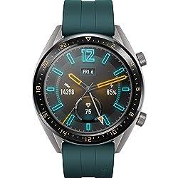 Huawei Watch GT Active Smartwatch (Écran tactile AMOLED de 3,53 cm (1,39 pouces), GPS, Moniteur de Suivi du Rythme Cardiaque, Moniteur de Fréquence Cardiaque, étanche 5 ATM) Vert Foncé