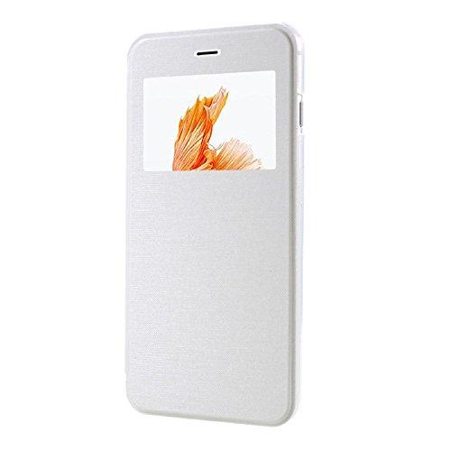 iPhone 7 Plus Hülle, Vandot Fenster Ansicht Transparent Schutzhülle für iPhone 7 Plus Lederhülle 5.5 Zoll Window View PU Leder Flip Case Cover Ultra Dünn Thin Exklusive Premium Durchsichtig Handyhülle Klar
