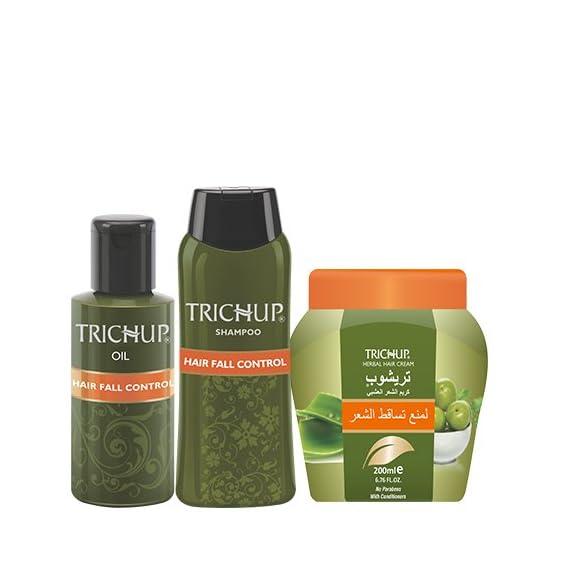 Trichup Anti - Hair Loss Treatment Kit (Hair Fall Control Oil (200ml), Hair Fall Control Shampoo (200ml), Hair Fall Control Cream (200ml) (PACK OF 3)