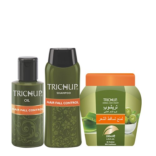 Trichup Anti - Hair Loss Treatment Kit (Hair Fall Control Oil (200ml), Hair Fall Control Shampoo (200ml), Hair Fall Control Cream (200ml) (PACK OF 3)