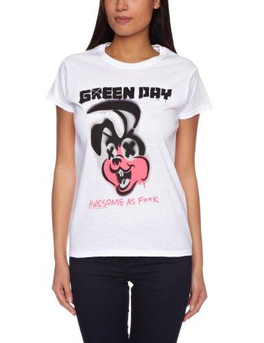 Bravado - Green Day Overspray, T-shirt da donna, bianco (weiß - weiß), S