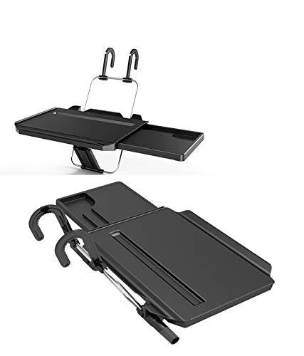 ZJWZ Car Steering Wheel Laptop Tablet Desk Stand Folding Auto Car Backseat Portable Pc Tray Tisch Car Dining Food Drink Table Cup Holder Black,350X234 - Holder Cup Desk Laptop