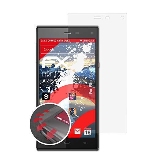 atFolix Schutzfolie passend für Phicomm Passion Folie, entspiegelnde & Flexible FX Bildschirmschutzfolie (3X)