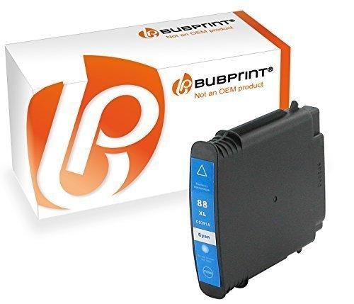 Bubprint Druckerpatrone kompatibel für HP 88XL 88 XL HP88XL für OfficeJet Pro K5300 K5400 K550 K8600 L7480 L7500 Series L7580 L7590 L7680 L7780 Cyan - 7760 Cyan Toner