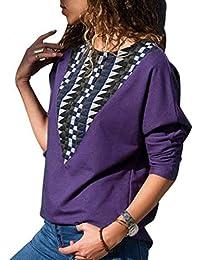 edf5fff9f1f05 Amazon.fr   Violet - Pulls et gilets   Femme   Vêtements