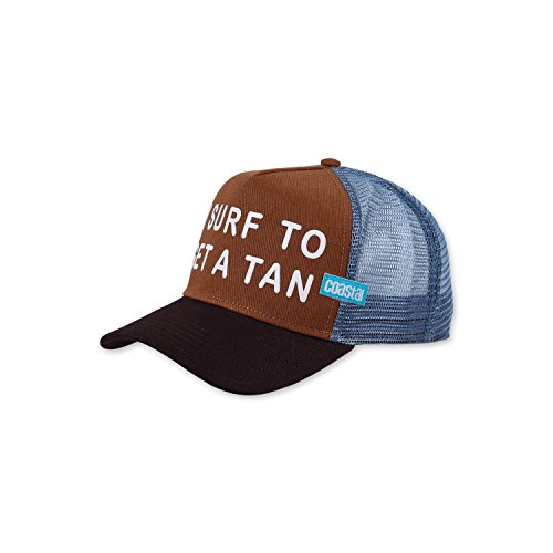 COASTAL - Get A Tan (cognac/brown/dove) - High Fitted Trucker Cap