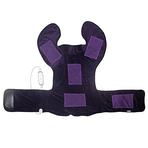 Terynbat Heizkissen Elektrisch, 3 Temperaturstufen Elektisches Nackenheizkissen Rückenheizkissen Schulterwärmer, Abschaltautomatik Schneller Heiztechnologie für Rücken und Schultern Heizdecke