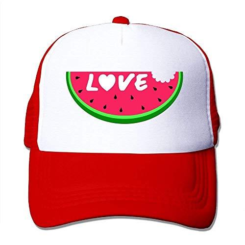 Wdskbg Love Bite Watermelon Adjustable Sports Mesh Baseball Caps Trucker Cap Sun Hats Multicolor93