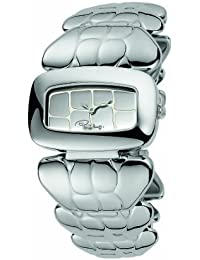 Roberto Cavalli Ladies Coco Analogue Watch R7253198015 with Quartz Movement, Stainless Steel Bracelet and Silver Dial