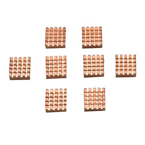 Yardwe 8 PCS Disipadores de Calor de Cobre Radiadores Aletas de enfriamiento para Memoria RAM DDR DDR2 DDR3