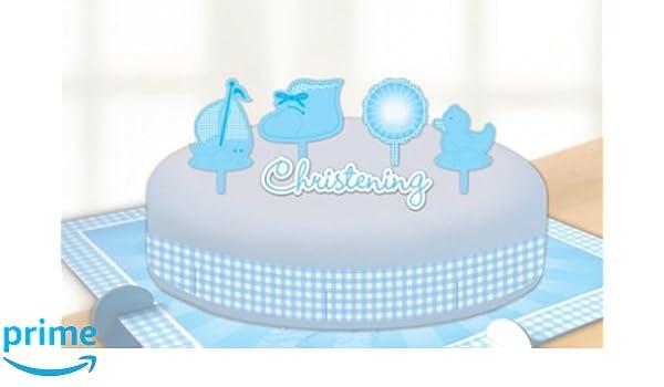 Decorazioni Torte Cinesi : Amscan decorazioni per torta soggetto battesimo colore blu