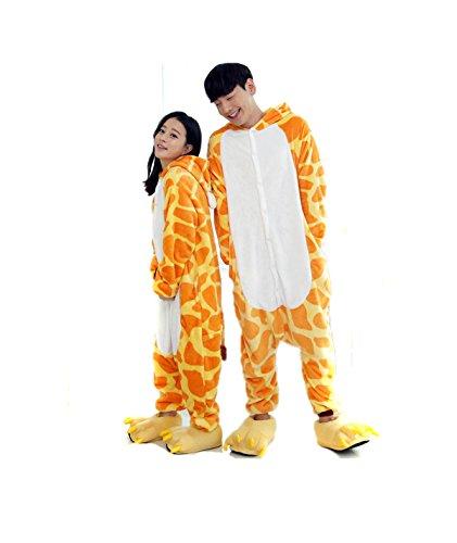 Pyjama Girafe Combinaisons Animaux Femme Homme Grenouillère Kigurumi Adulte Pyjamas Costume Onesie M