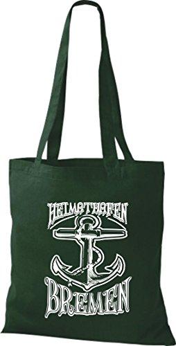 Crocodile leur port d'attache bremen kiez, sac shopper sac à bandoulière plusieurs couleurs Vert - Vert