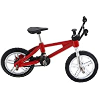 MagiDeal Bici de Dedo Ruedecilla Juguete Regalo de Bicicletas para Niños - Rojo