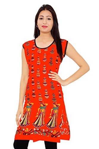 Kurti Studio Peach Unstitched Cotton Kurti Dress Material