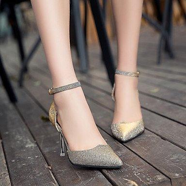 Moda Donna Sandali Sexy donna tacchi Primavera / Estate / Autunno tacchi / Punta abito in similpelle / Casual Stiletto Heel fibbia golden