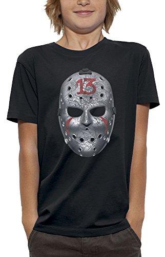 nimierte T-Shirt Freitag 13 in Augmented Reality Kind - Größe 7/8 Jahre - Schwarz (Virtuelle Halloween)