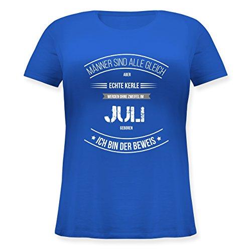 ... Rundhalsausschnitt Blau. Geburtstag - Echte Kerle Werden IM Juli Geboren  - Lockeres Damen-Shirt in Großen Größen