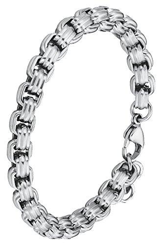 s.Oliver Herren-Armband matt Karabinerverschluss Edelstahl mattiert 22 cm